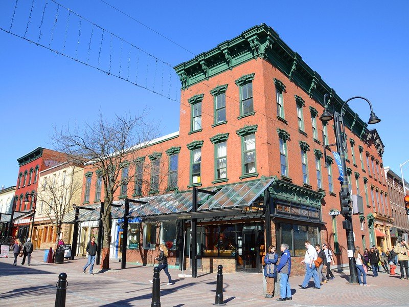 Church Street Marketplace in the historic district of Burlington, Vermont