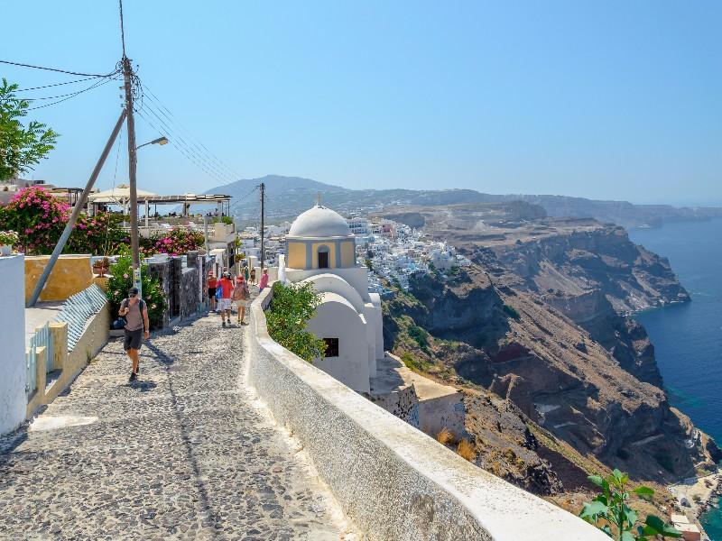 Cliff walk, Santorini