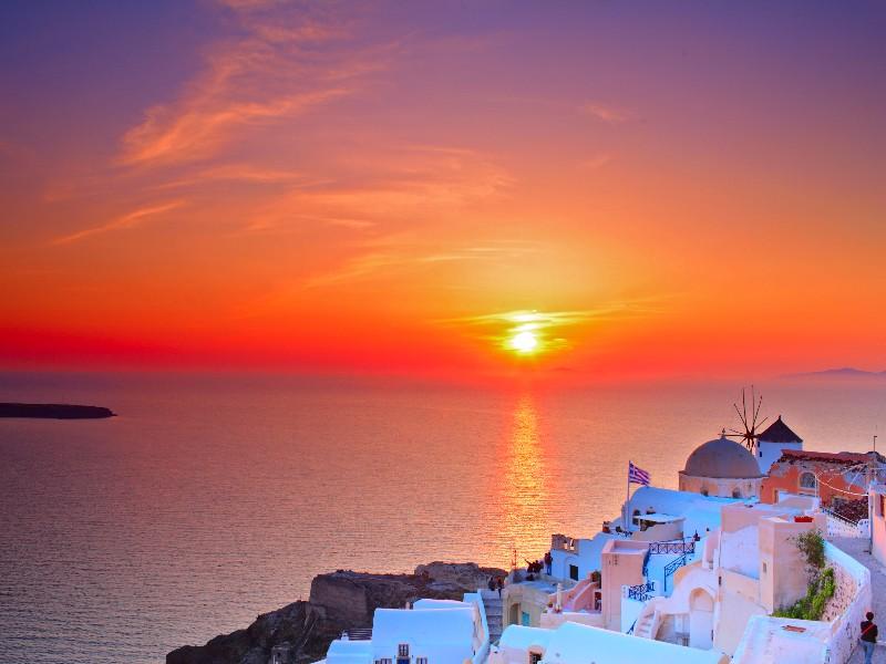 Sunset from Oia, Santorinia