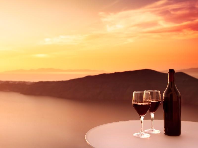 wine, Santorini