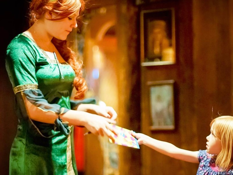 Meeting a princess at The Magic Time Machine