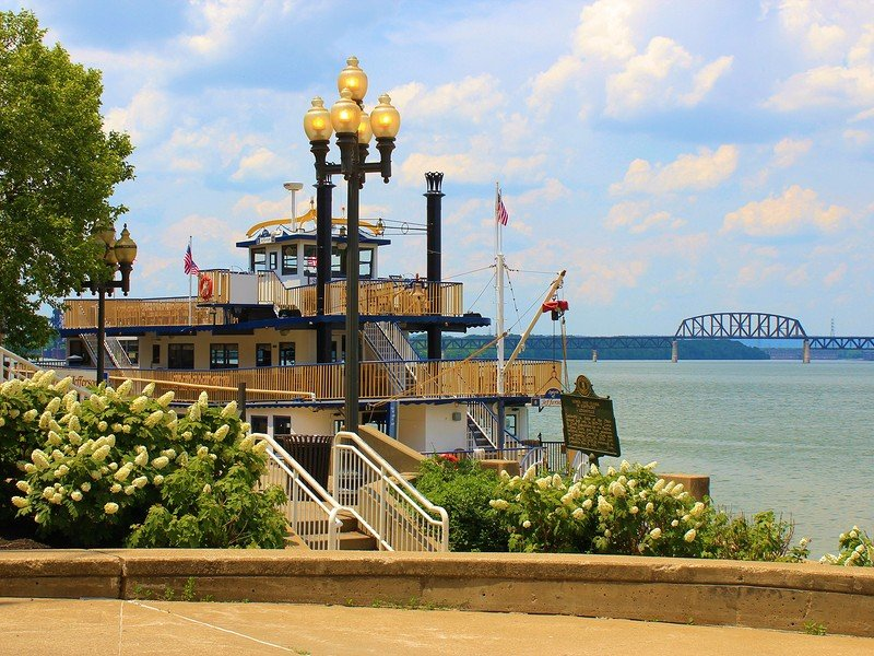 Ferry Boat with scenic cruises on the Ohio River in Louisville.