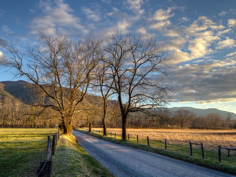 Bicyclists can enjoy the beauty of Cades Cove.