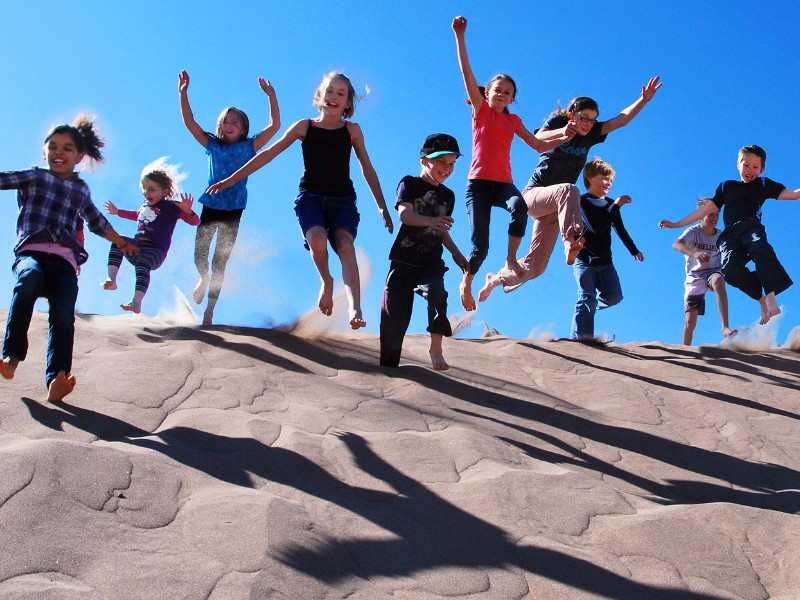 Kids at Great Sand Dunes National Park and Preserve