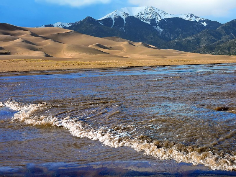 Medano Creek at Great Sand Dunes National Park and Preserve