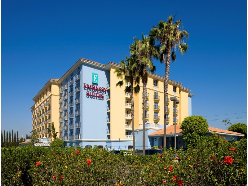 Embassy Suites by Hilton Anaheim North is an all-suite hotel with separate bedroom and living areas