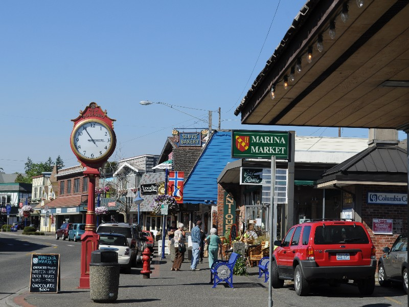 Front Street, downtown Poulsbo, Washington