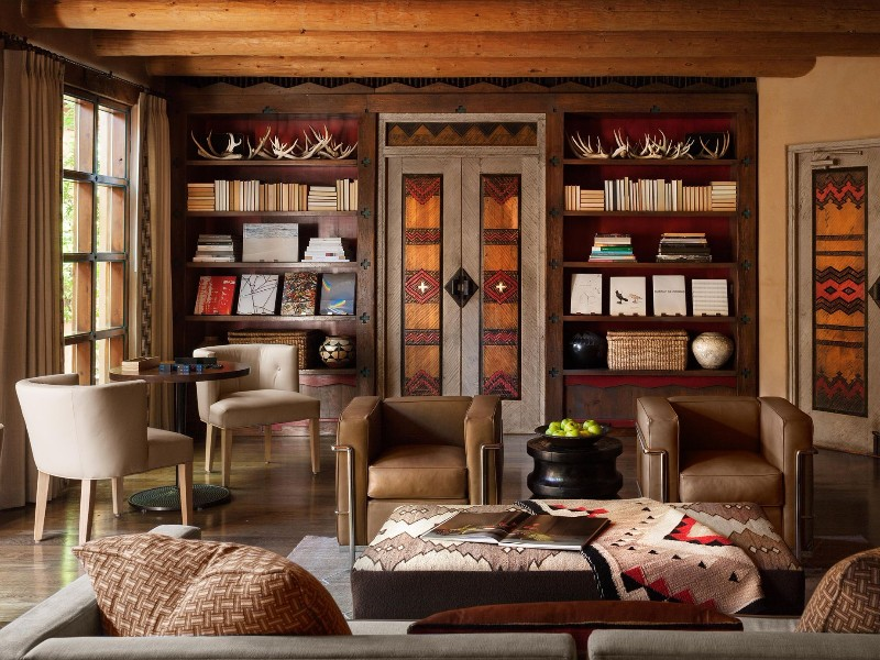 Cozy interior at the Rosewood Inn of the Anasazi