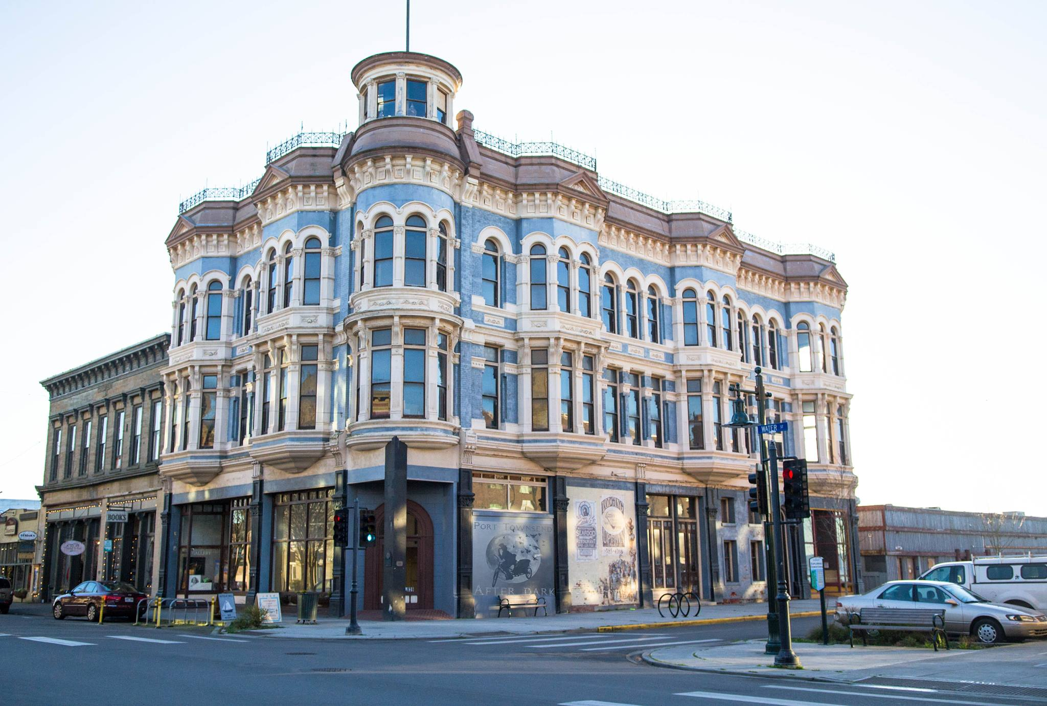 Victorian building in Port Townsend, Washington