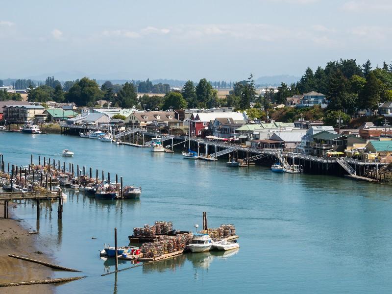 Historic waterfront, La Conner, Washington