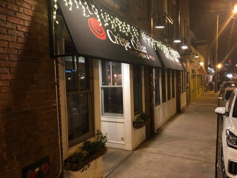 Crepe Cellar serves both savory and sweet crepes.