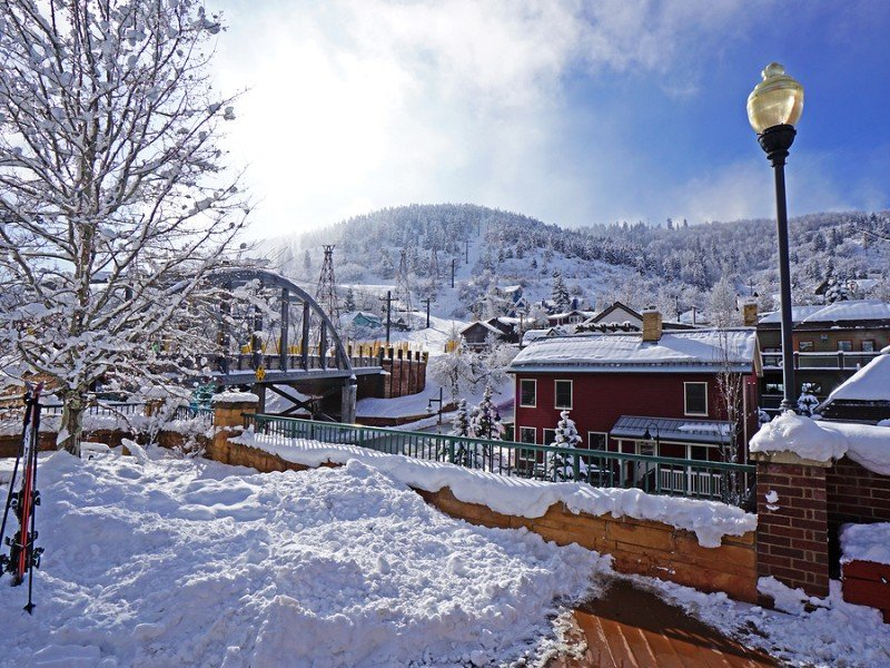 Snowy scene at Park City Mountain