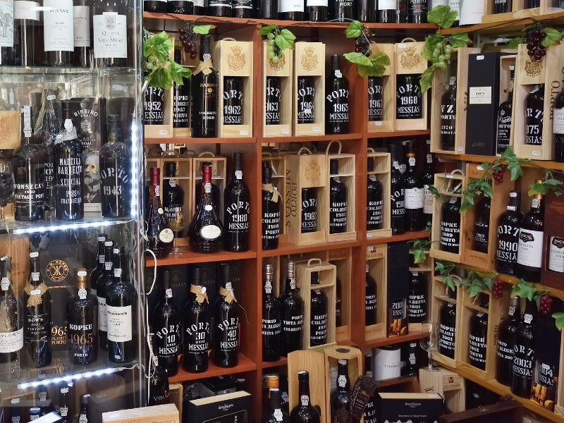 Selection of port wine