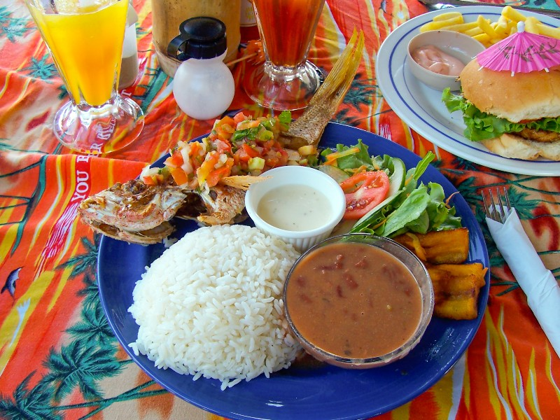 meal in Belize