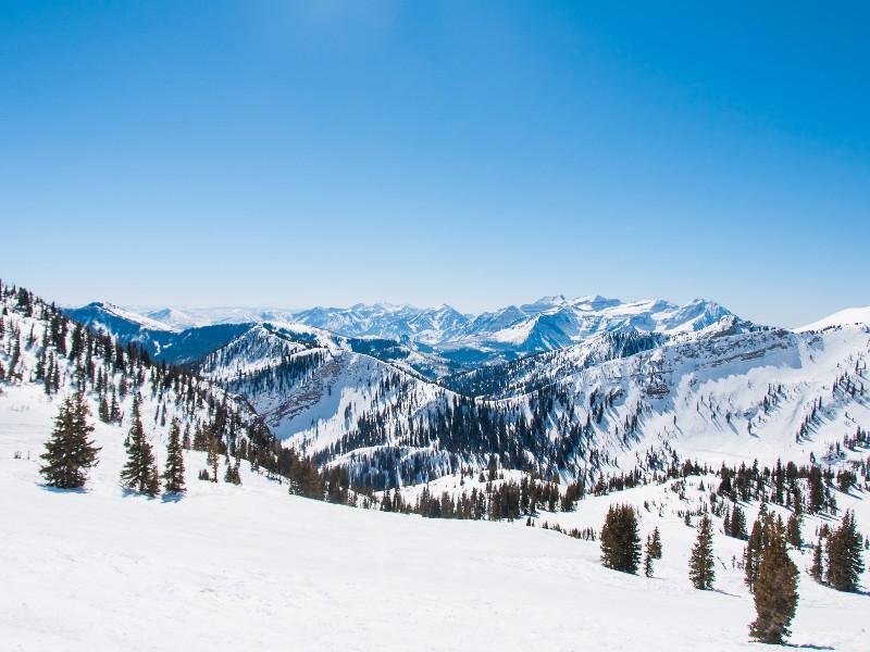 Snowy peaks at Alta Ski Area