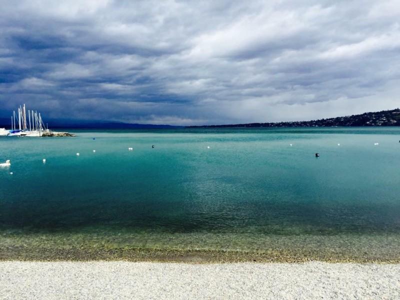 Water view at Bains des Pâquis