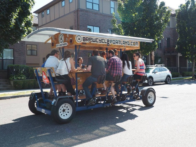 Out for a ride with BrewCycle & BrewBarge PDX