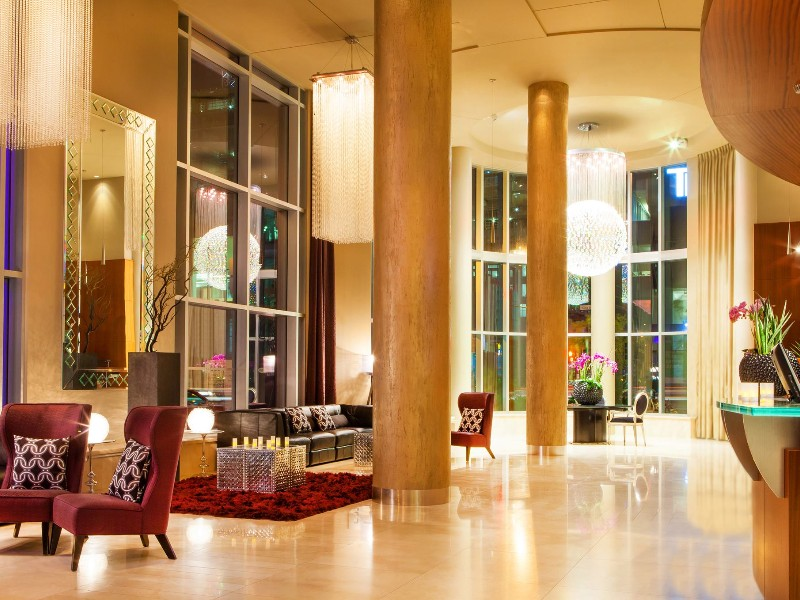 Hotel lobby at Hôtel Le Crystal