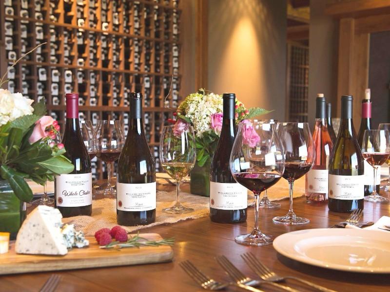 Willamette Valley Vineyards wine pairing dinner