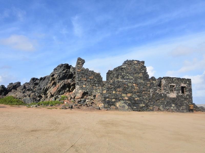 ancient ruins of the Bushiribana gold mill, Aruba