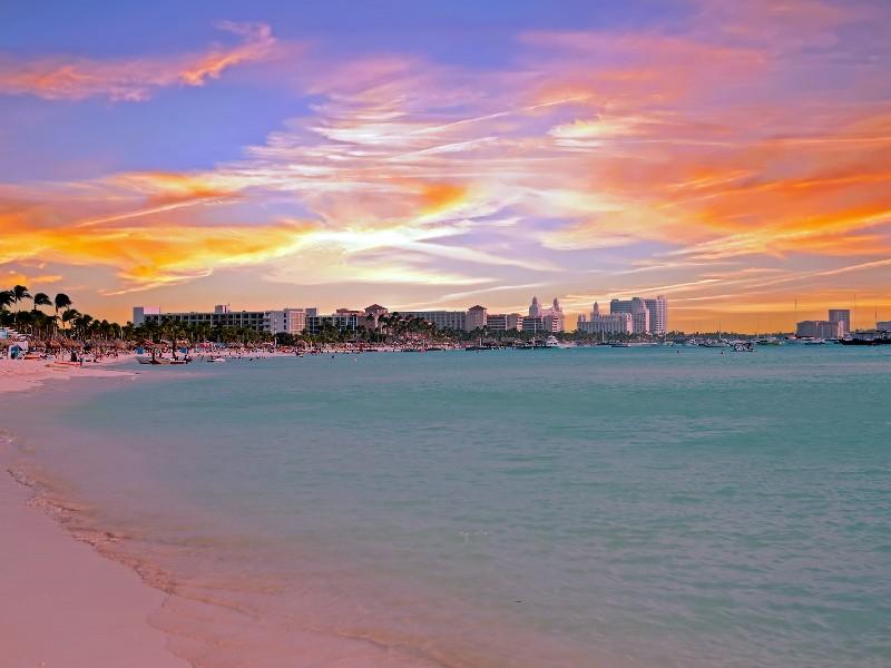 sunset on Palm Beach, Aruba