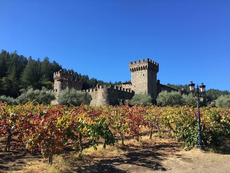Grand exterior of Castello di Amorosa