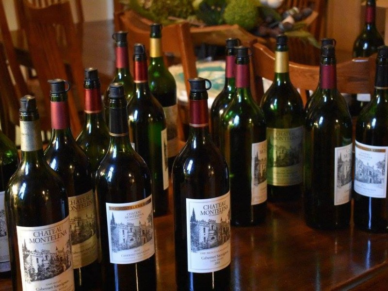 Bottle selection at Chateau Montelena Winery