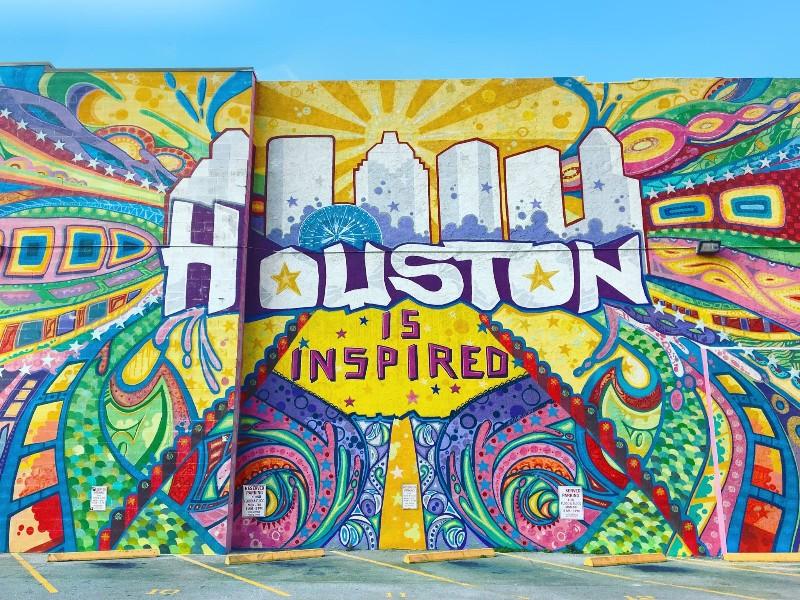 """""""Houston Is Inspired"""" Mural"""