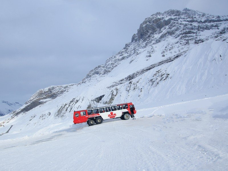 The Ice Explorer on Columbia Icefield