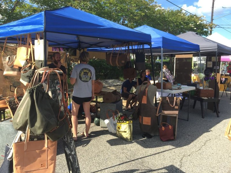 The Old Beach Art Market is open year-round and displays works by local artists.
