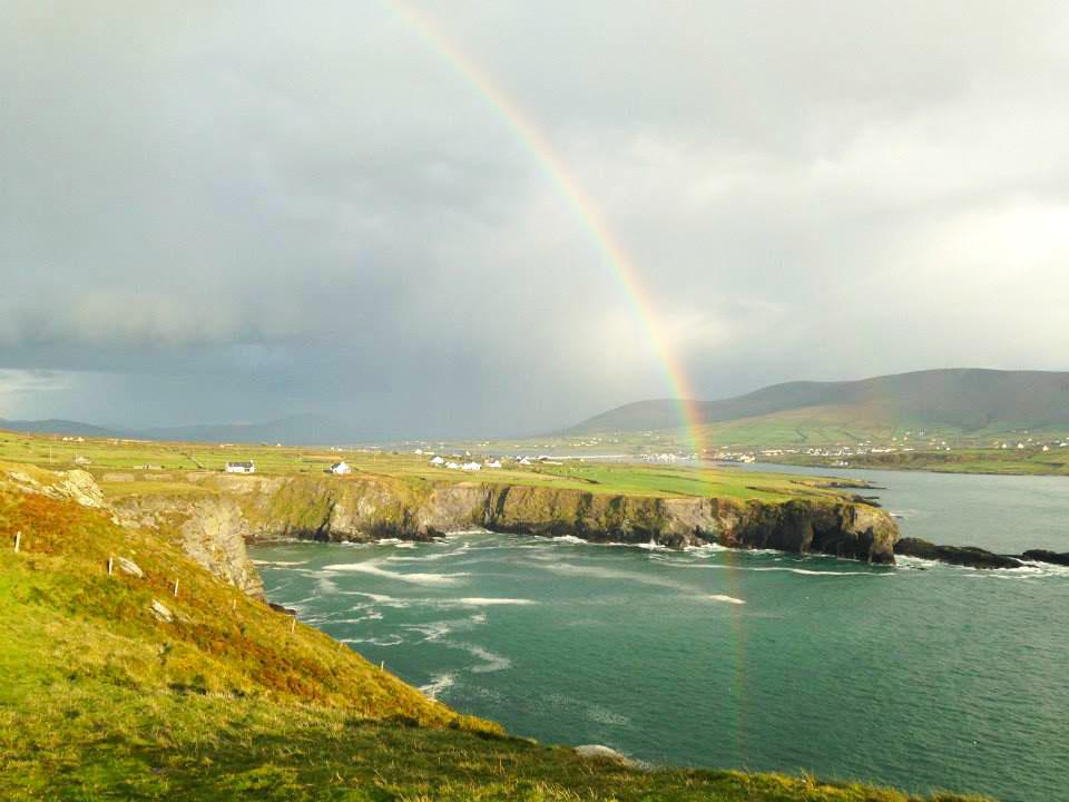 rainbow over Portmagee, Ireland