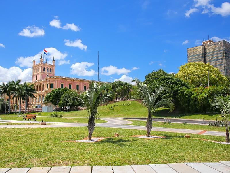 Paraguay river promenade in Asuncion Paraguay