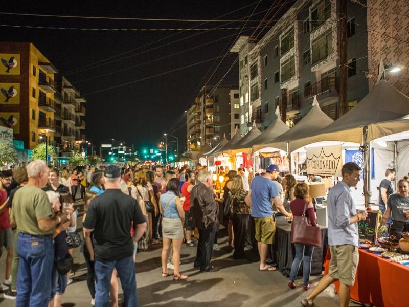 Street festival at Roosevelt Row