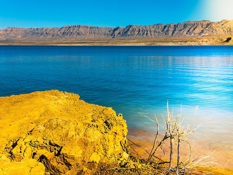 Beautiful blue waters at Lake Mead National Recreation Area in Arizona