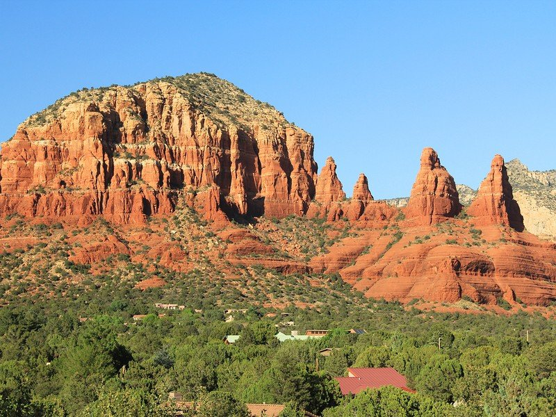 Red rock formation in Red Rock State Park along Oak Creek Canyon within Yavapai County, Sedona