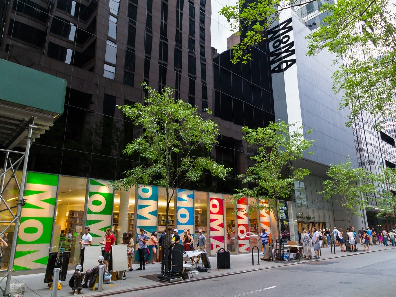 The outside of the MoMA Museum in central New York