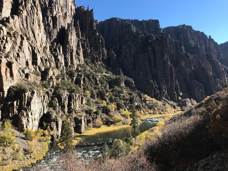 Rewarding views at the bottom of Black Canyon of the Gunnison National Park