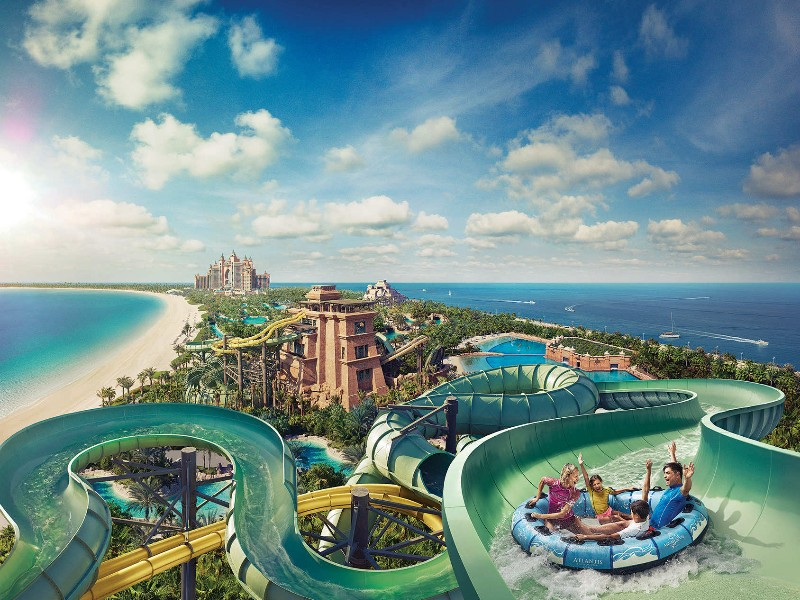 Atlantis The Palm Hotel, waterpark, Dubai