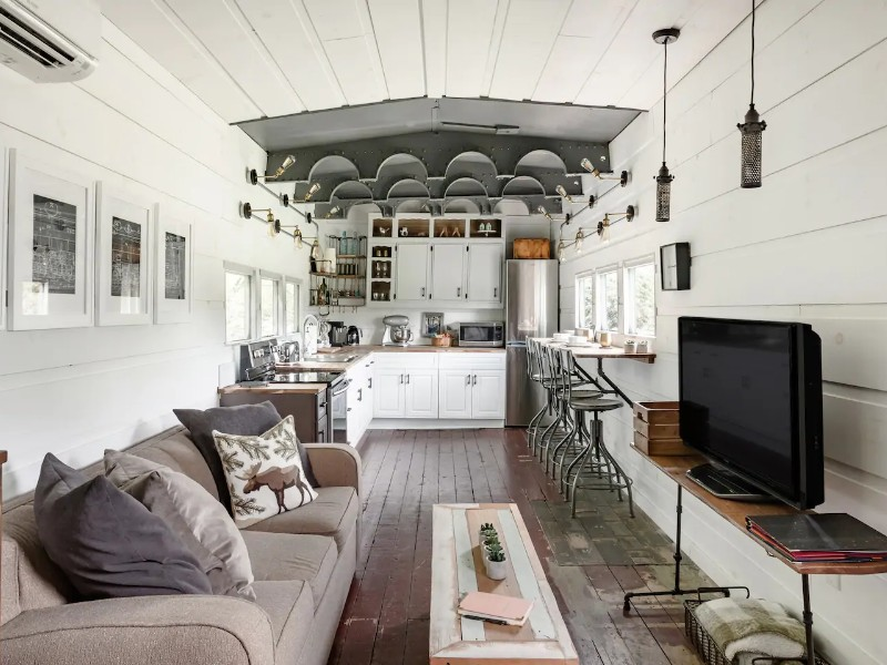 Converted WWII Train Car with Patio