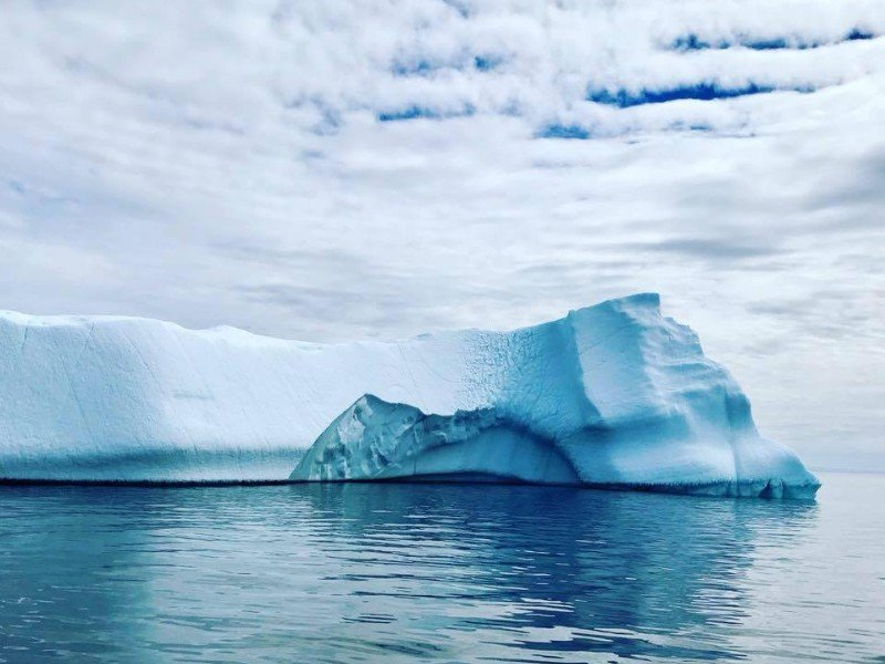 Iceberg in Goose Cove near St. Anthony, Newfoundland and Labrador