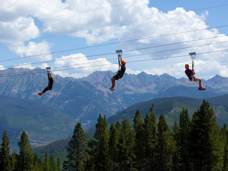 Epic Discovery offers seven ziplines for flying high above the trees.