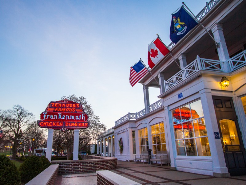 Opened in 1928, Zehnders is a famous Michigan restaurant in Frankenmuth