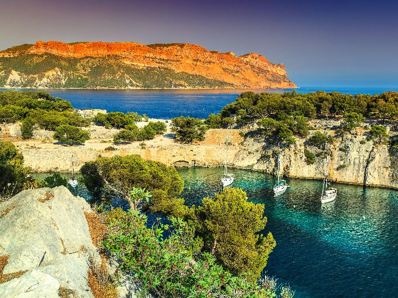 Beautiful view near Cassis, France in the French Riviera