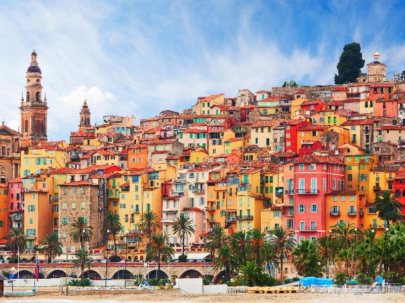 Menton, Provence-Alpes-Cote d'Azur, France.