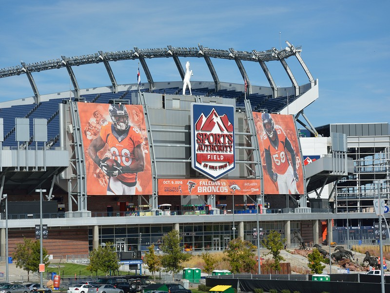 Sports Authority Field at Mile High Stadium is the home of the Denver Broncos NFL football team