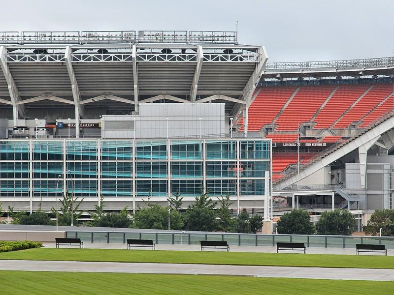 FirstEnergy Stadium exterior view in Cleveland