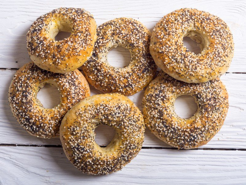 Homemade bagels in NYC