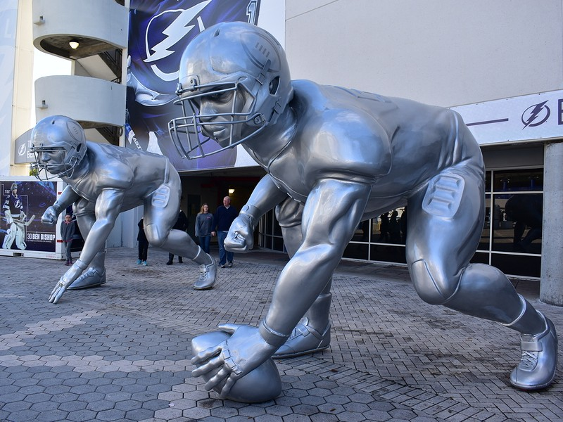 Giant Player Sculptures in Tampa