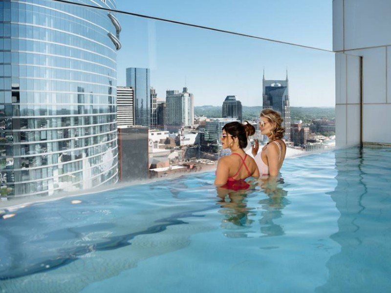 Pool with a view at The Westin Nashville