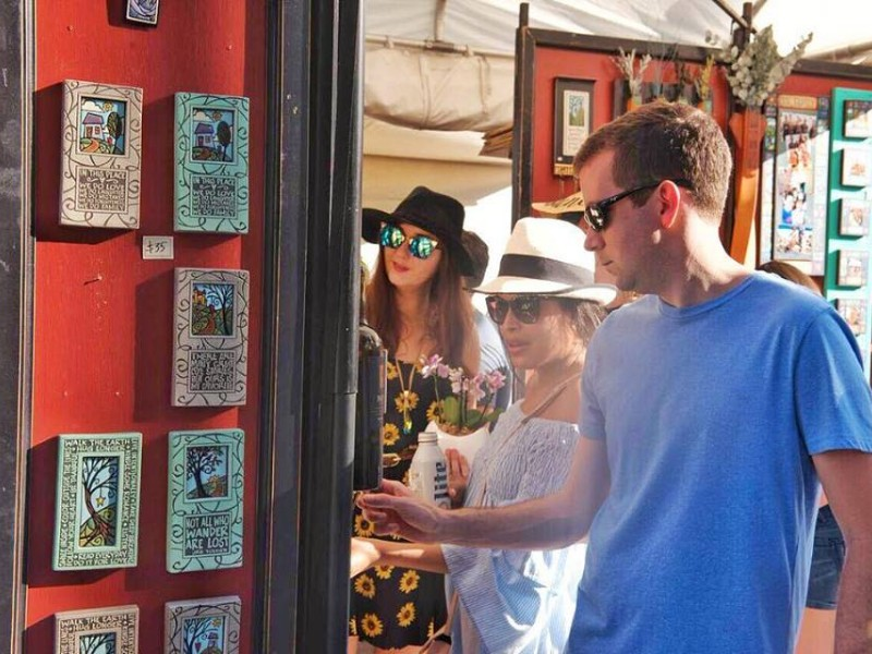 Shopping at Coconut Grove Arts Festival